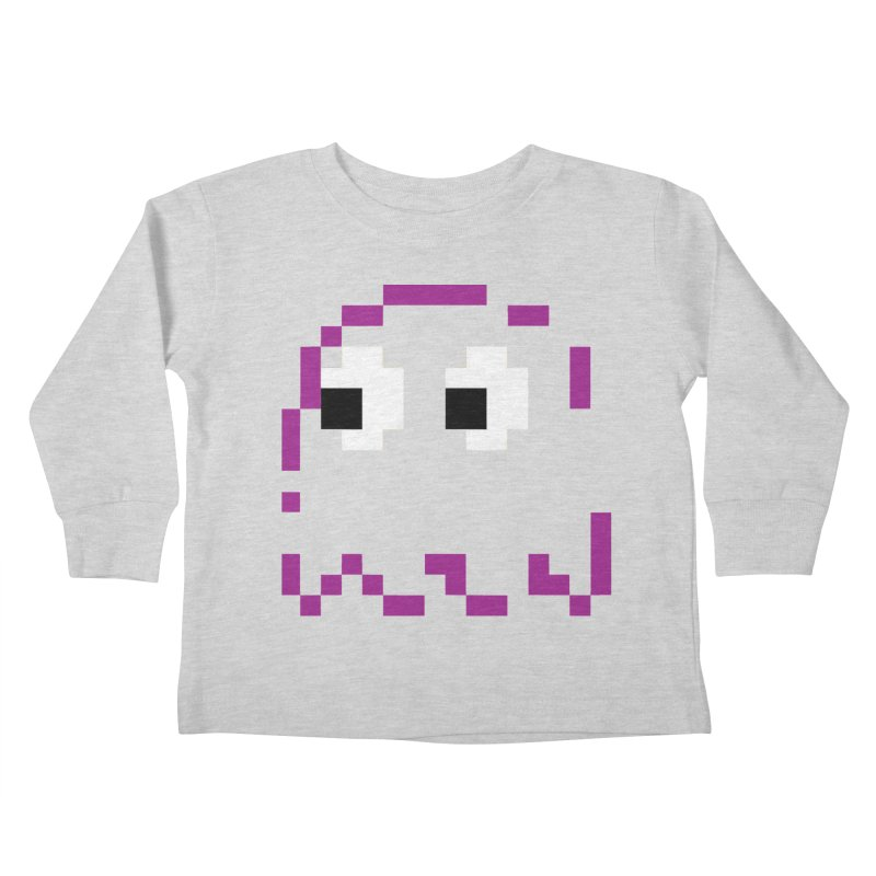 Pacman   Ghost Pinky Kids Toddler Longsleeve T-Shirt by Silli Philli Produktionz