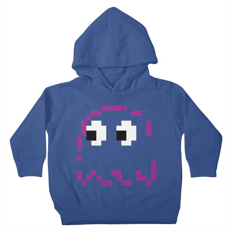 Pacman | Ghost Pinky Kids Toddler Pullover Hoody by Silli Philli Produktionz