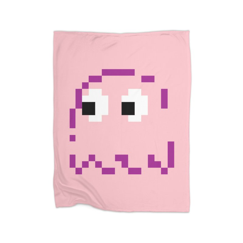Pacman | Ghost Pinky Home Blanket by Silli Philli Produktionz