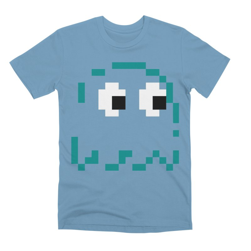 Pacman | Ghost Inky Men's Premium T-Shirt by Silli Philli Produktionz