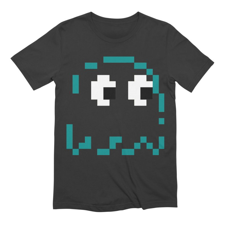Pacman   Ghost Inky Men's Extra Soft T-Shirt by Silli Philli Produktionz