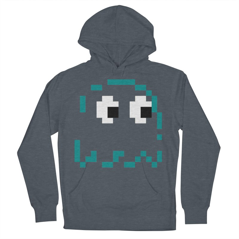 Pacman | Ghost Inky Women's French Terry Pullover Hoody by Silli Philli Produktionz