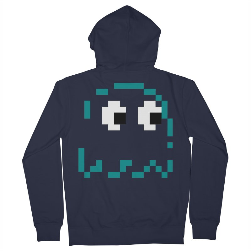 Pacman | Ghost Inky Men's French Terry Zip-Up Hoody by Silli Philli Produktionz