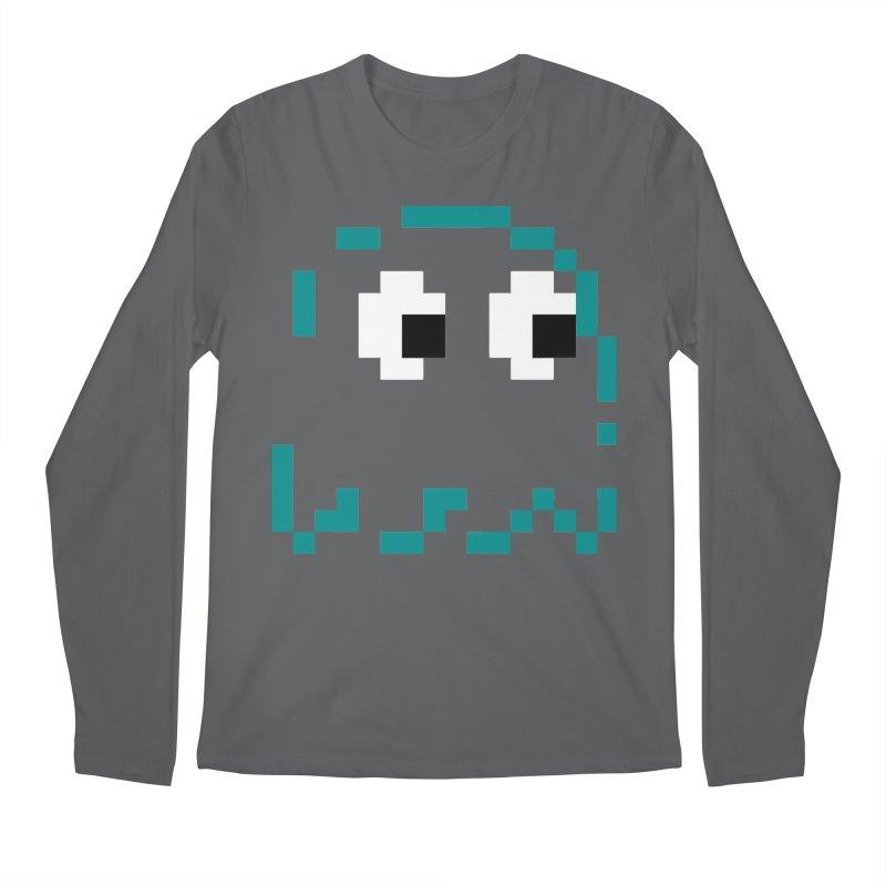 Pacman | Ghost Inky Men's Longsleeve T-Shirt by Silli Philli Produktionz | Custom Prints