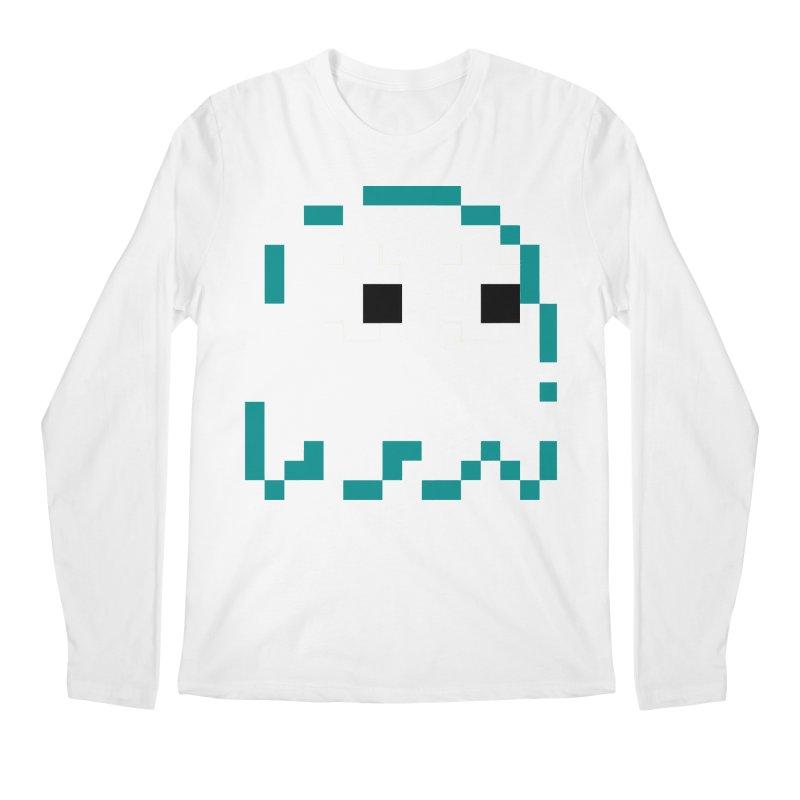 Pacman   Ghost Inky Men's Regular Longsleeve T-Shirt by Silli Philli Produktionz