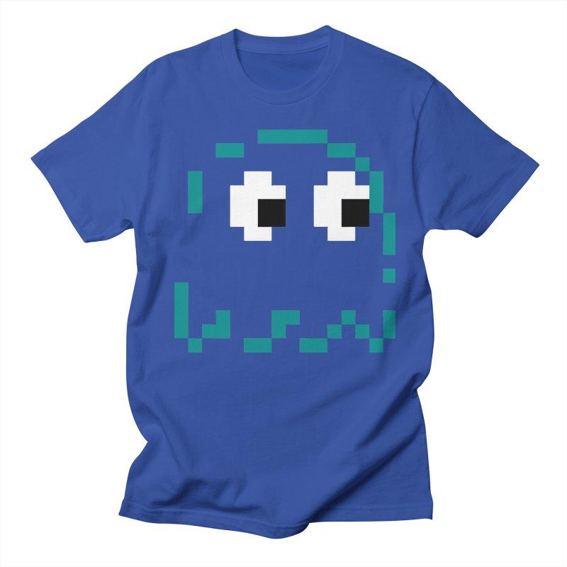 Pacman | Ghost Inky Women's Regular Unisex T-Shirt by Silli Philli Produktionz