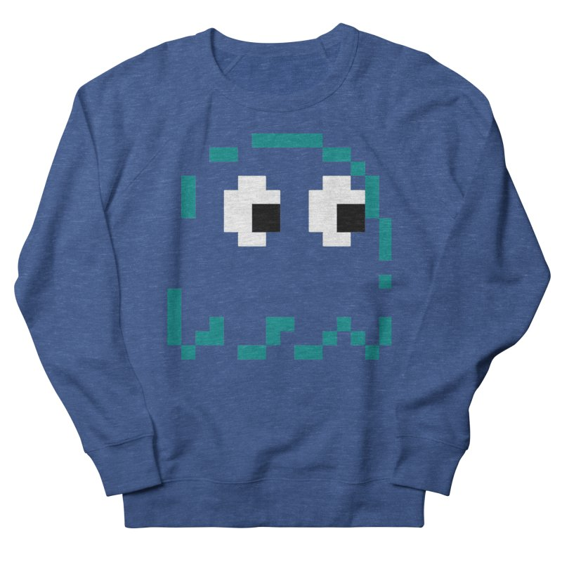 Pacman | Ghost Inky Women's French Terry Sweatshirt by Silli Philli Produktionz