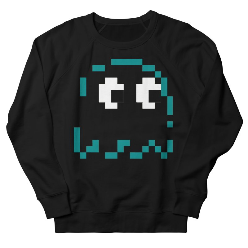 Pacman   Ghost Inky Men's French Terry Sweatshirt by Silli Philli Produktionz