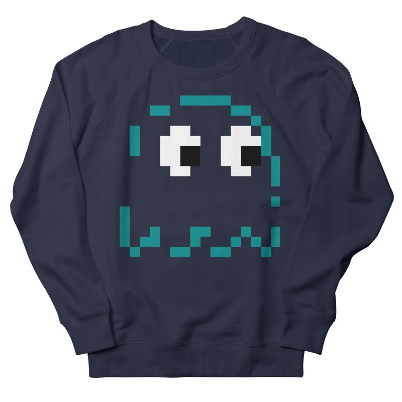 Pacman | Ghost Inky Men's French Terry Sweatshirt by Silli Philli Produktionz