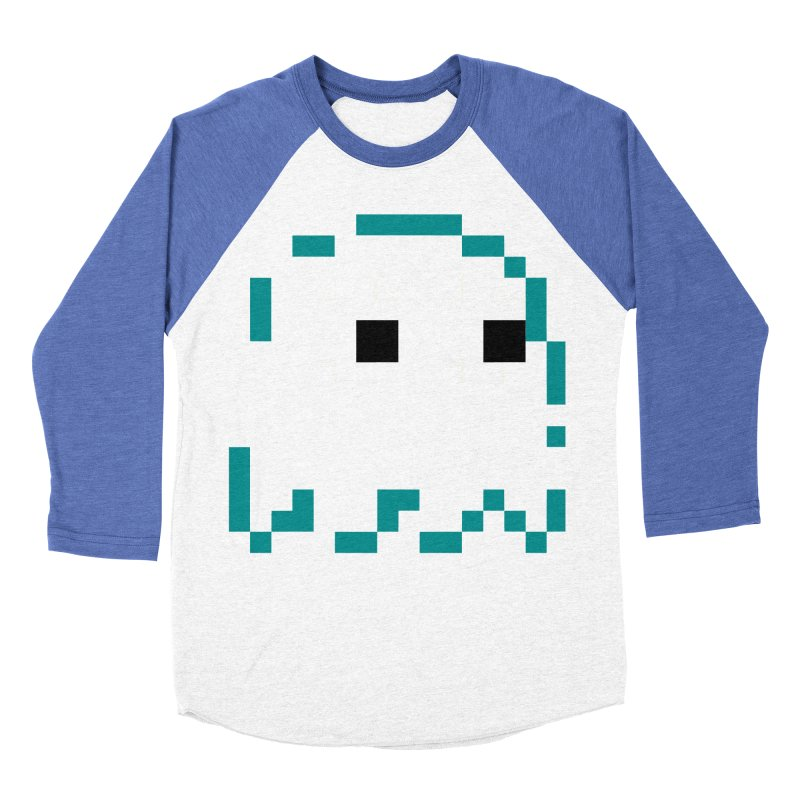 Pacman | Ghost Inky Women's Baseball Triblend Longsleeve T-Shirt by Silli Philli Produktionz