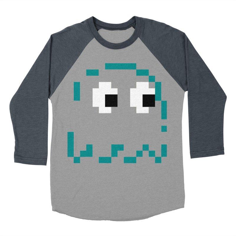 Pacman | Ghost Inky Women's Baseball Triblend Longsleeve T-Shirt by Silli Philli Produktionz