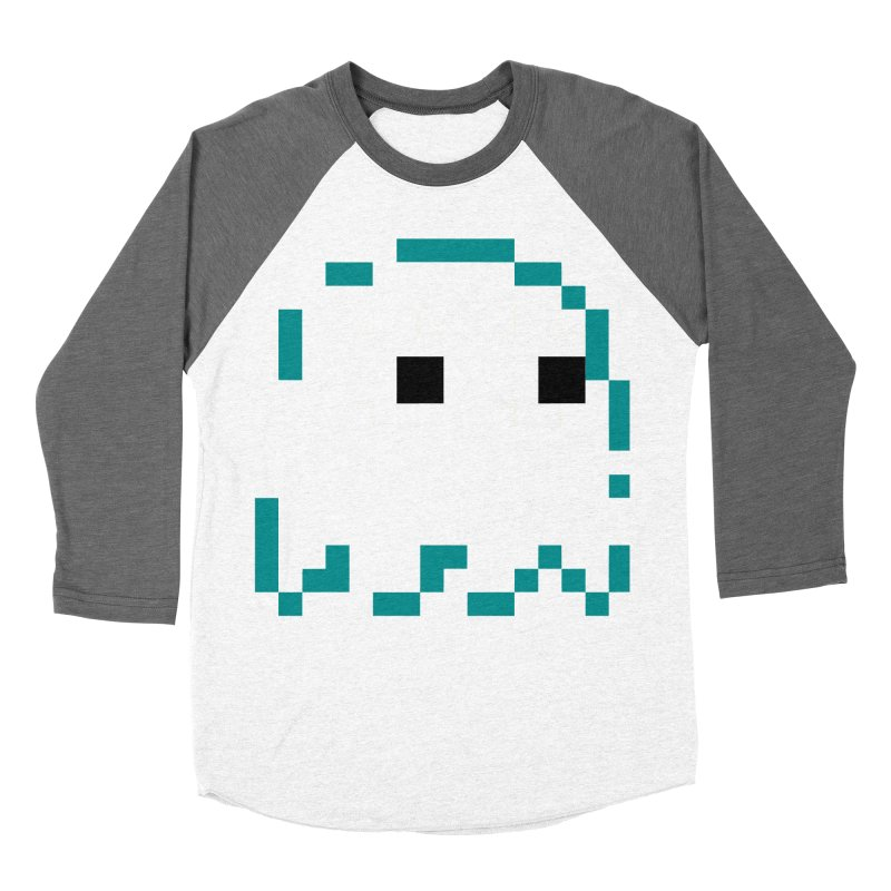 Pacman | Ghost Inky Men's Baseball Triblend Longsleeve T-Shirt by Silli Philli Produktionz