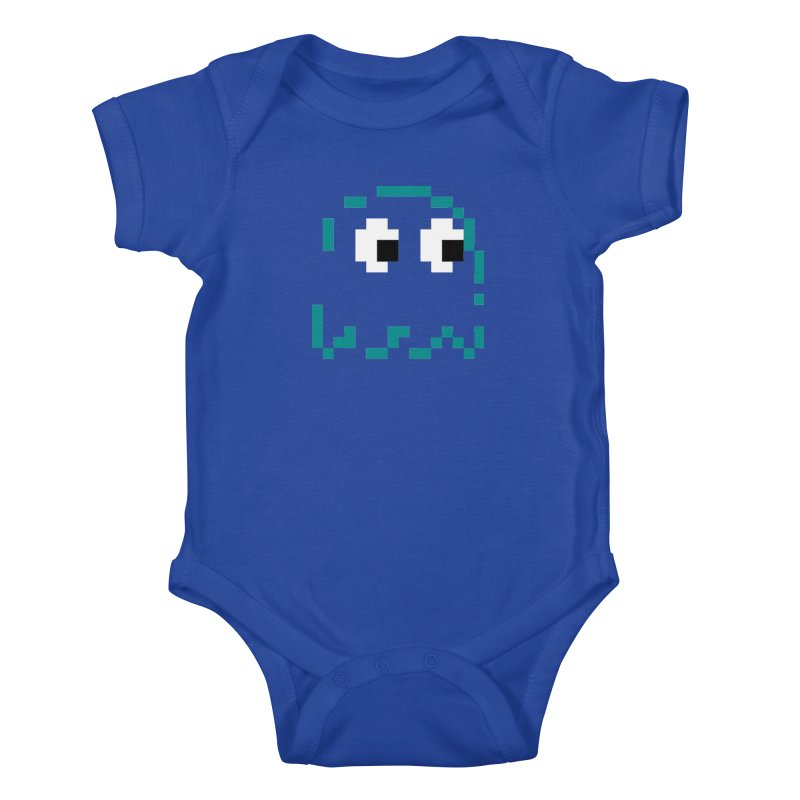 Pacman | Ghost Inky Kids Baby Bodysuit by Silli Philli Produktionz