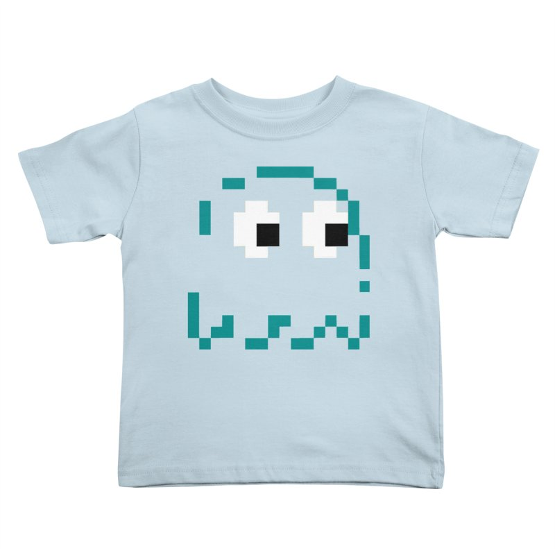 Pacman | Ghost Inky Kids Toddler T-Shirt by Silli Philli Produktionz | Custom Prints