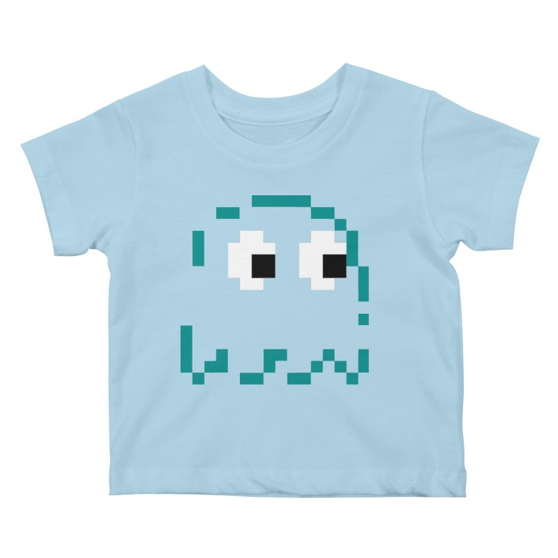 Pacman | Ghost Inky Kids Baby T-Shirt by Silli Philli Produktionz