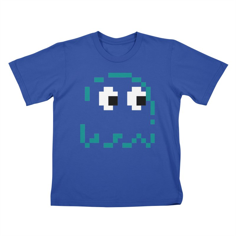 Pacman | Ghost Inky Kids T-Shirt by Silli Philli Produktionz