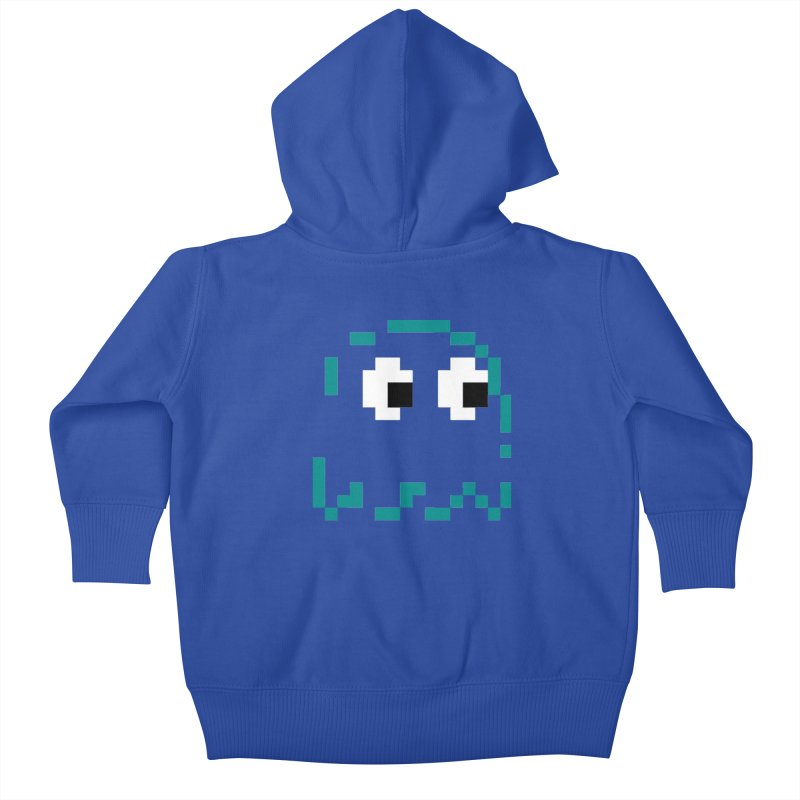 Pacman | Ghost Inky Kids Baby Zip-Up Hoody by Silli Philli Produktionz
