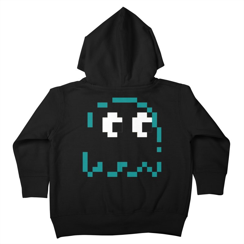 Pacman   Ghost Inky Kids Toddler Zip-Up Hoody by Silli Philli Produktionz   Custom Prints