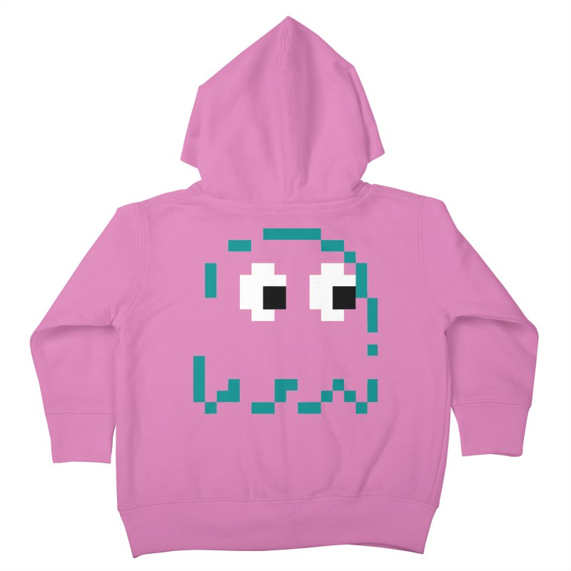 Pacman | Ghost Inky Kids Toddler Zip-Up Hoody by Silli Philli Produktionz