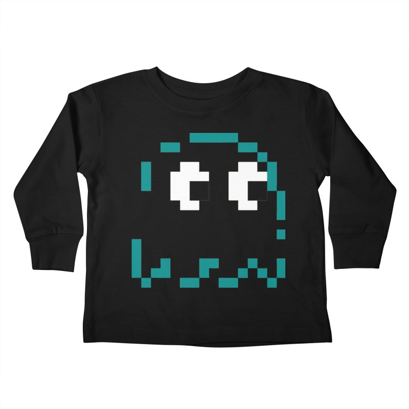 Pacman | Ghost Inky Kids Toddler Longsleeve T-Shirt by Silli Philli Produktionz | Custom Prints