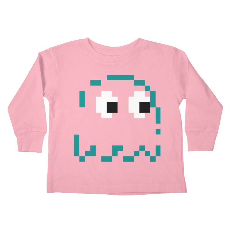 Pacman | Ghost Inky Kids Toddler Longsleeve T-Shirt by Silli Philli Produktionz