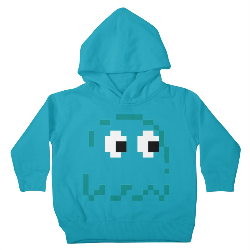 Pacman | Ghost Inky Kids Toddler Pullover Hoody by Silli Philli Produktionz