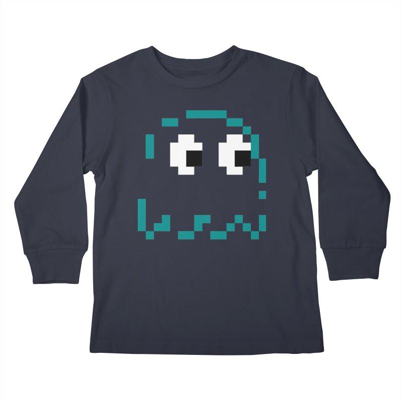 Pacman | Ghost Inky Kids Longsleeve T-Shirt by Silli Philli Produktionz | Custom Prints