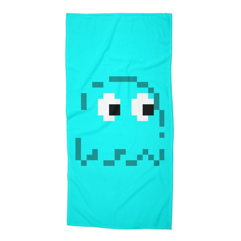 Pacman | Ghost Inky Accessories Beach Towel by Silli Philli Produktionz