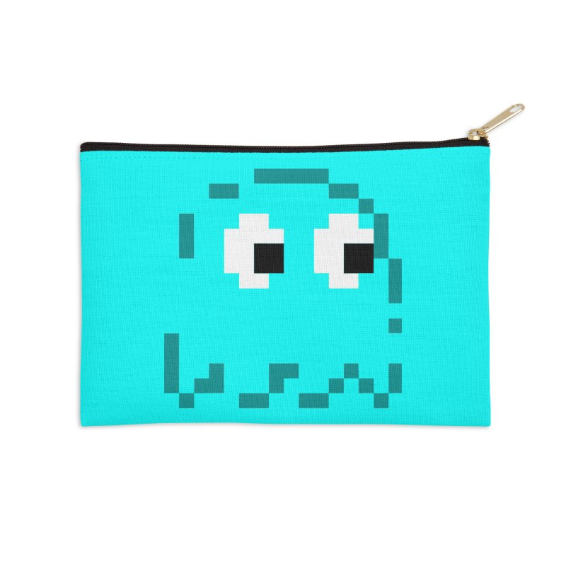Pacman | Ghost Inky Accessories Zip Pouch by Silli Philli Produktionz