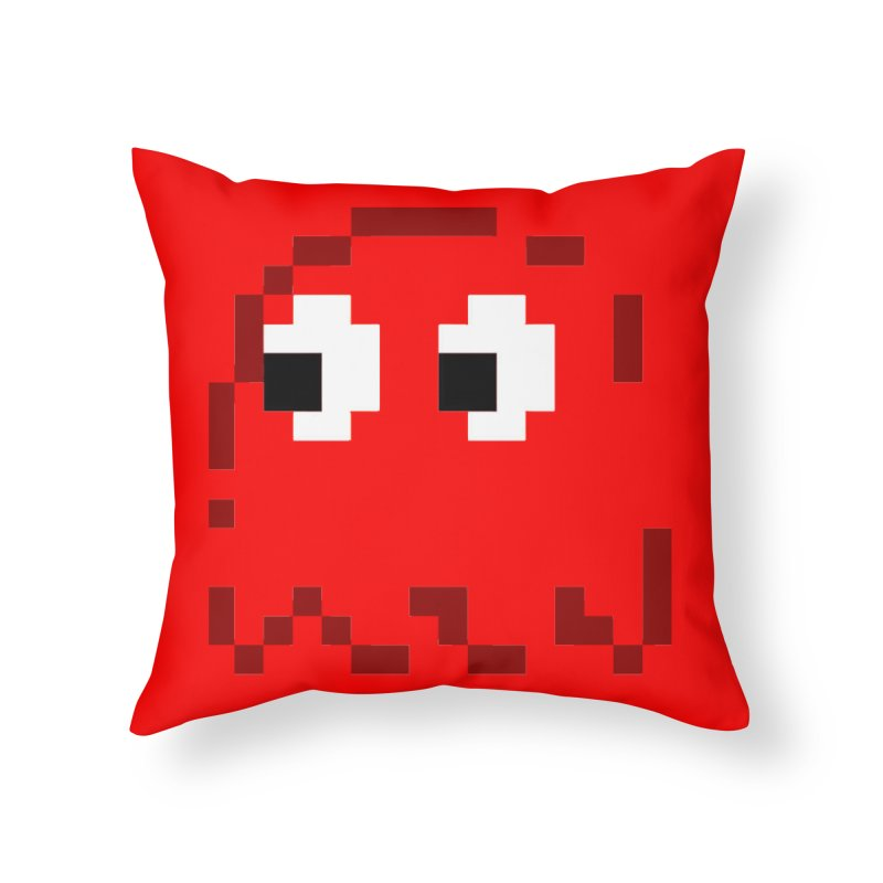 Pacman | Ghost Blinky Home Throw Pillow by Silli Philli Produktionz