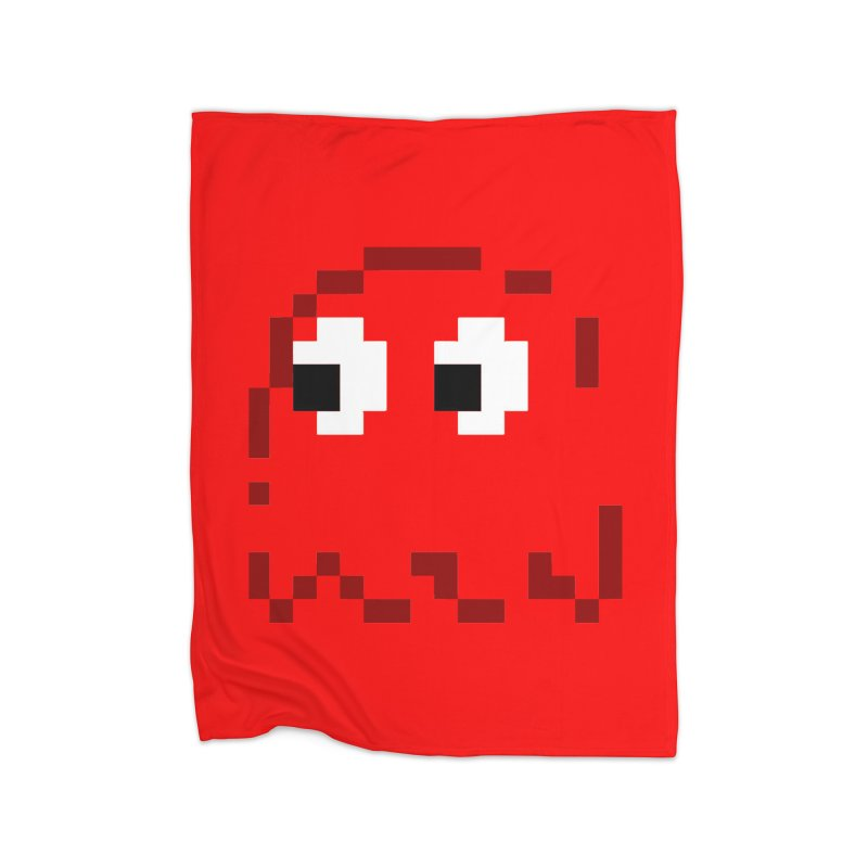 Pacman | Ghost Blinky Home Blanket by Silli Philli Produktionz