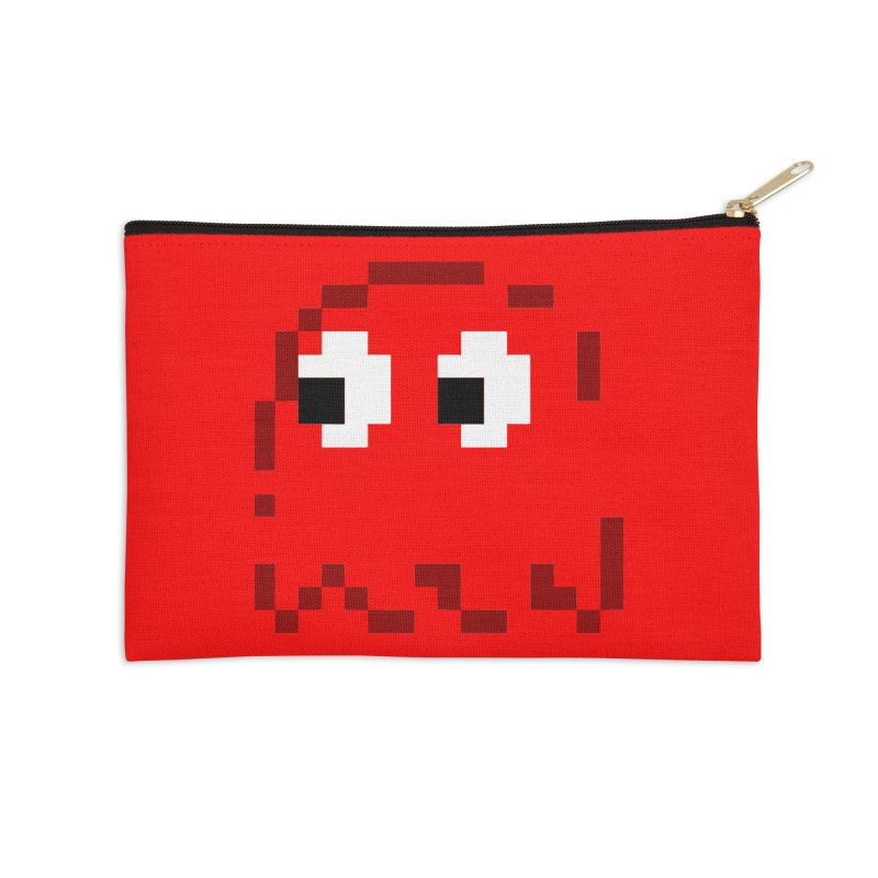Pacman | Ghost Blinky Accessories Zip Pouch by Silli Philli Produktionz