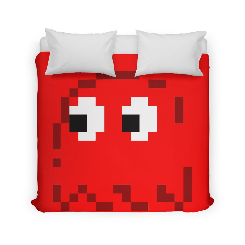 Pacman | Ghost Blinky Home Duvet by Silli Philli Produktionz