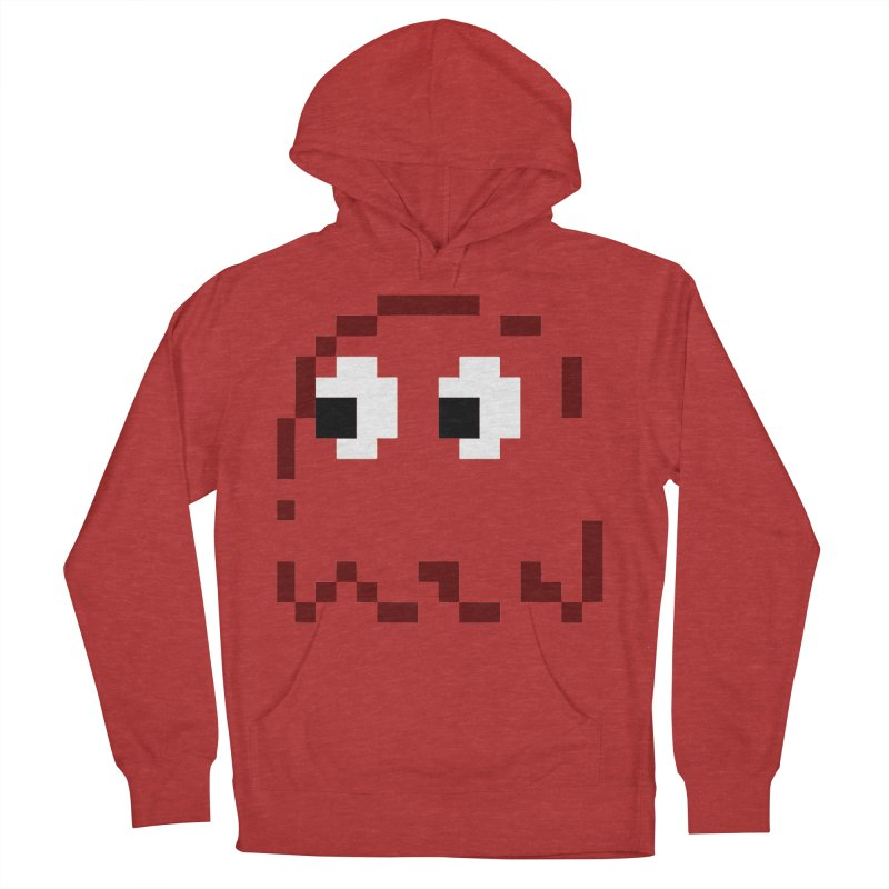 Pacman | Ghost Blinky Men's French Terry Pullover Hoody by Silli Philli Produktionz