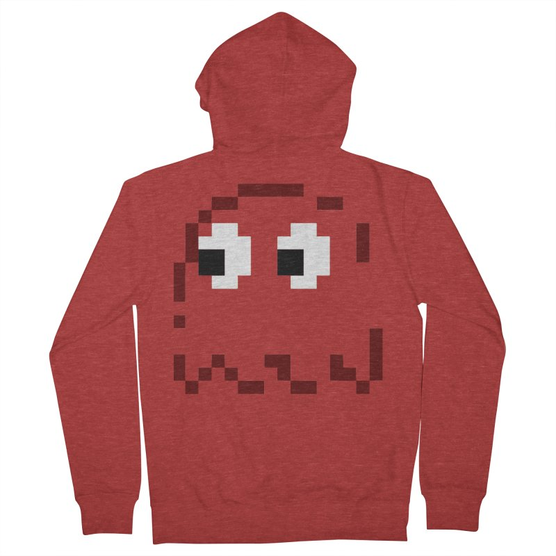 Pacman | Ghost Blinky Men's French Terry Zip-Up Hoody by Silli Philli Produktionz