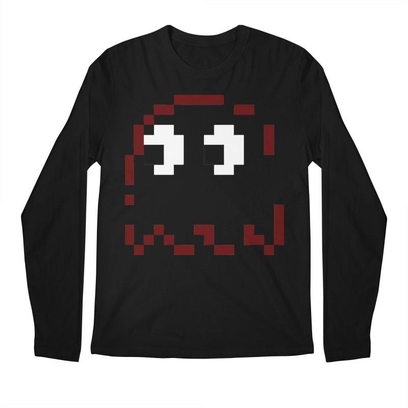 Pacman   Ghost Blinky Men's Regular Longsleeve T-Shirt by Silli Philli Produktionz