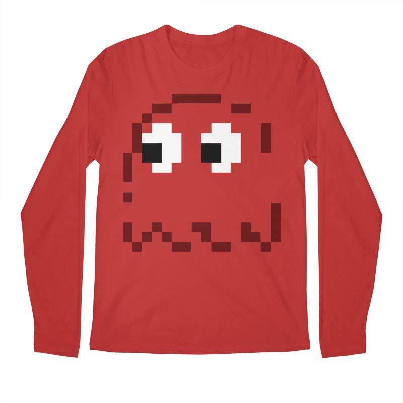 Pacman | Ghost Blinky Men's Regular Longsleeve T-Shirt by Silli Philli Produktionz