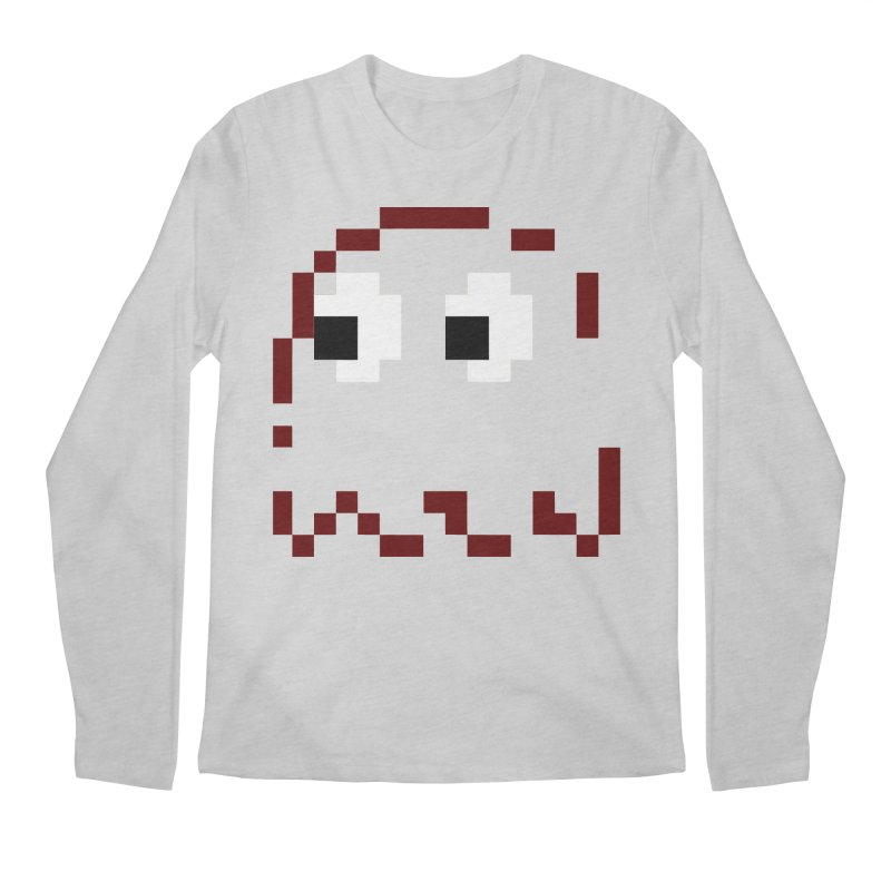 Pacman | Ghost Blinky Men's Regular Longsleeve T-Shirt by Silli Philli Produktionz