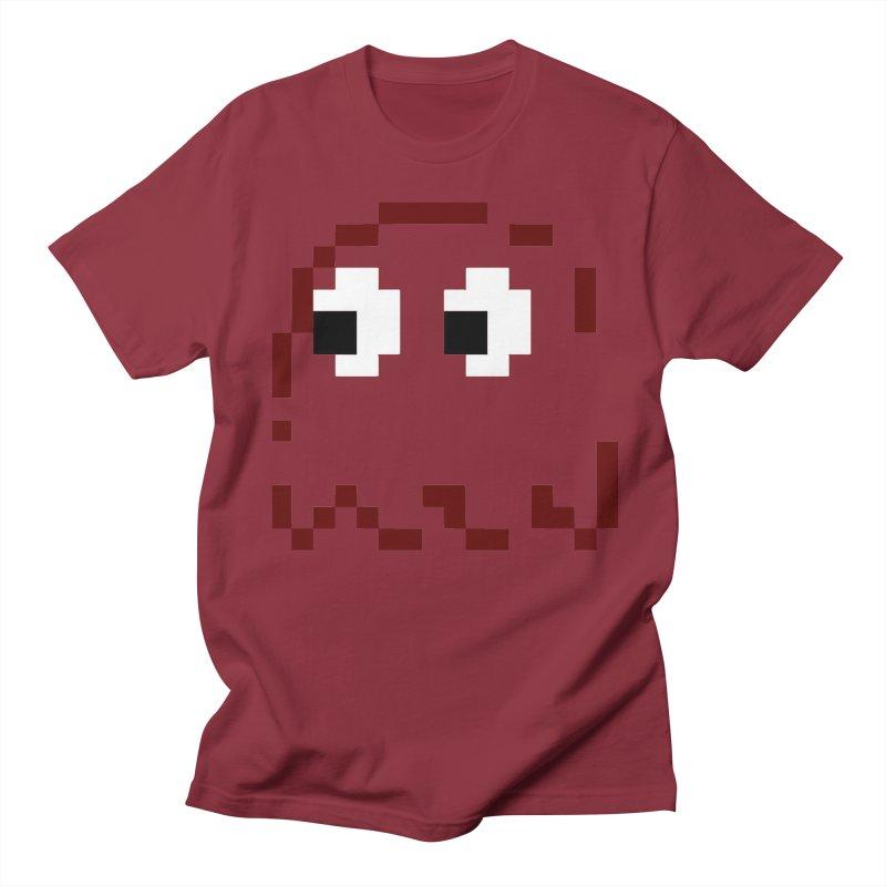 Pacman | Ghost Blinky Women's Regular Unisex T-Shirt by Silli Philli Produktionz