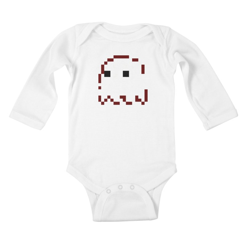 Pacman | Ghost Blinky Kids Baby Longsleeve Bodysuit by Silli Philli Produktionz