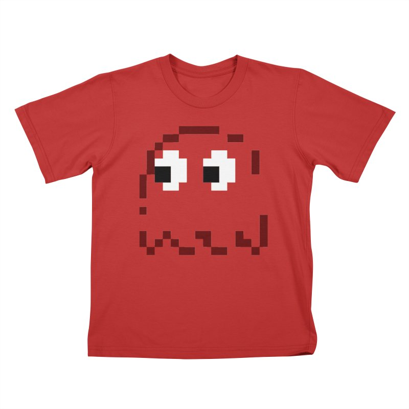 Pacman | Ghost Blinky Kids T-Shirt by Silli Philli Produktionz
