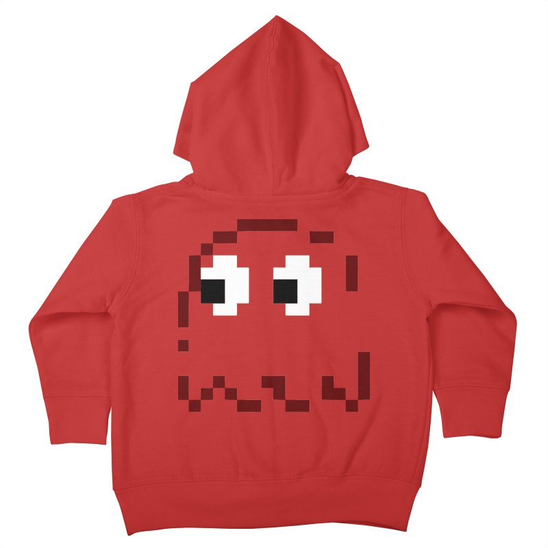 Pacman | Ghost Blinky Kids Toddler Zip-Up Hoody by Silli Philli Produktionz | Custom Prints