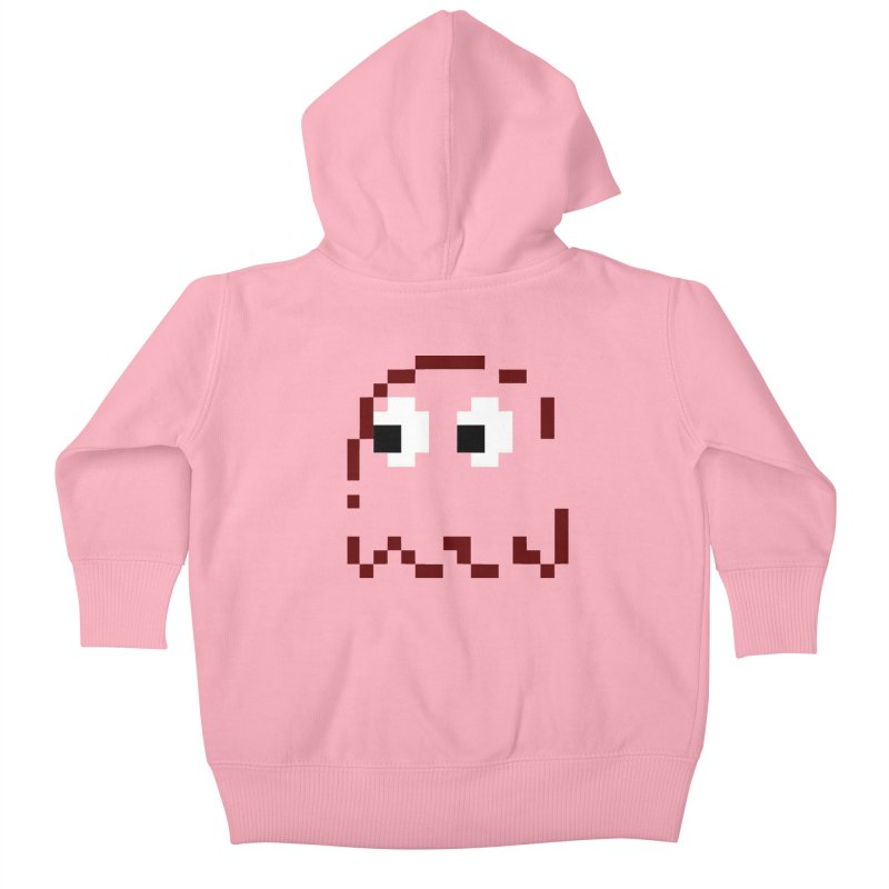 Pacman | Ghost Blinky Kids Baby Zip-Up Hoody by Silli Philli Produktionz