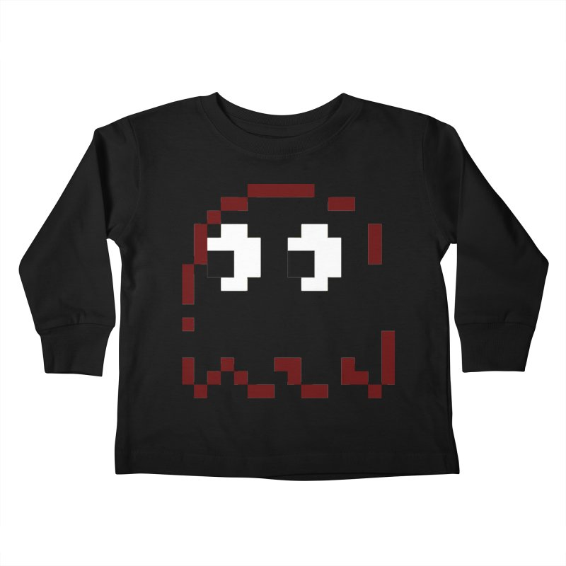 Pacman | Ghost Blinky Kids Toddler Longsleeve T-Shirt by Silli Philli Produktionz | Custom Prints