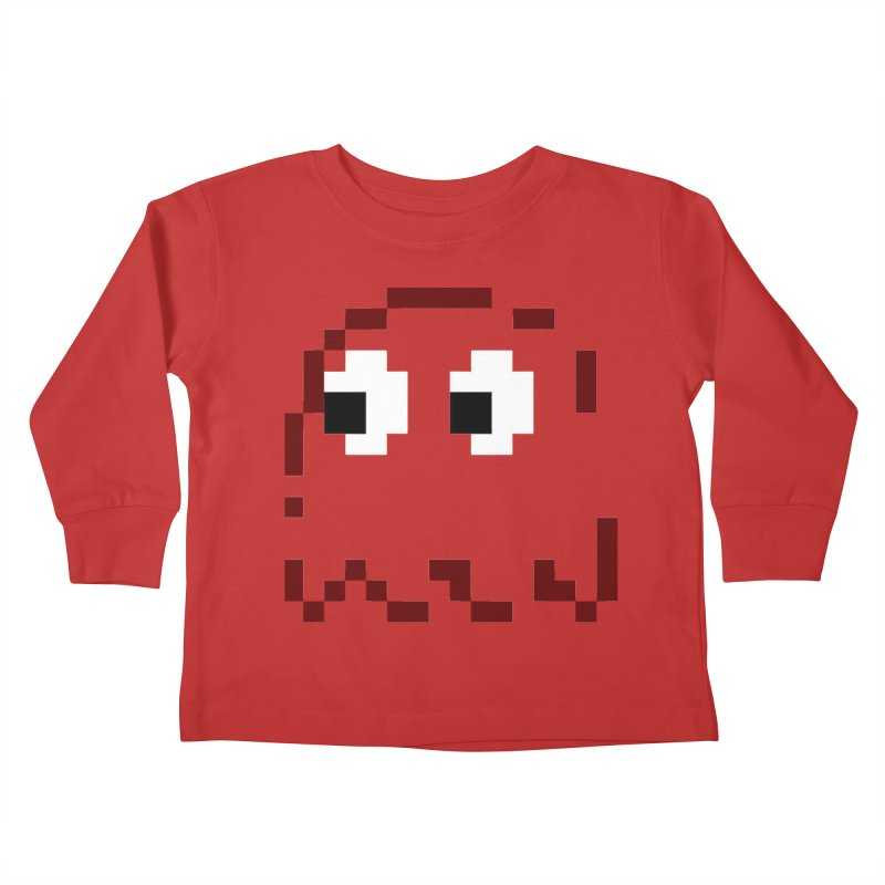 Pacman | Ghost Blinky Kids Toddler Longsleeve T-Shirt by Silli Philli Produktionz