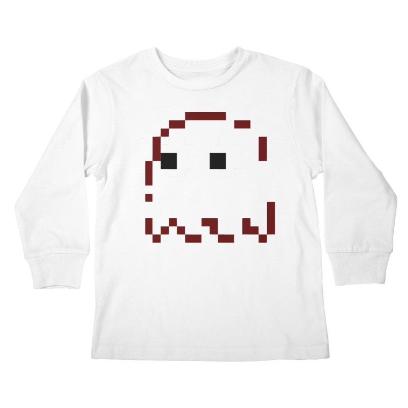 Pacman | Ghost Blinky Kids Longsleeve T-Shirt by Silli Philli Produktionz