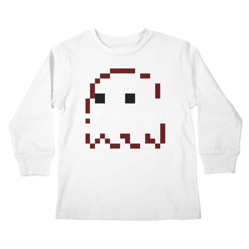 Pacman | Ghost Blinky Kids Longsleeve T-Shirt by Silli Philli Produktionz | Custom Prints