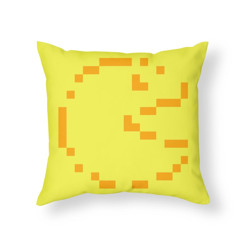 Pacman-Man Home Throw Pillow by Silli Philli Produktionz