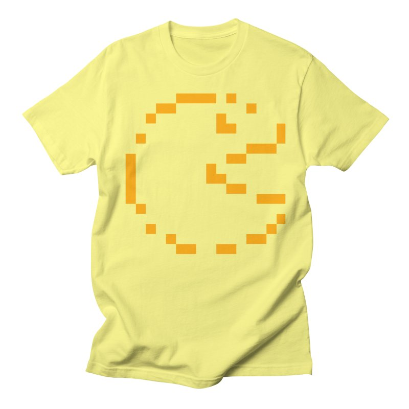 Pacman-Man in Men's Regular T-Shirt Lemon by Silli Philli Produktionz