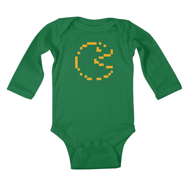 Pacman-Man Kids Baby Longsleeve Bodysuit by Silli Philli Produktionz